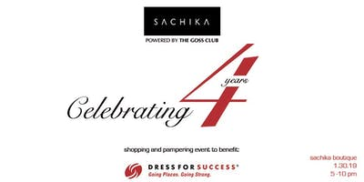 SACHIKA Boutique 4-Year Anniversary Shopping event to Benefit Dress For Success Powered by The Goss Club