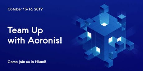 Acronis Global Cyber Summit 2019 tickets