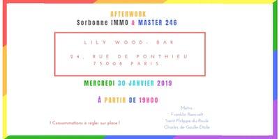 APERO-AFTERWORK Sorbonne IMMO x Master 246 - mercredi 30 janvier 2019
