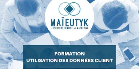 Formation Maïeutyk: Utilisation des données client billets