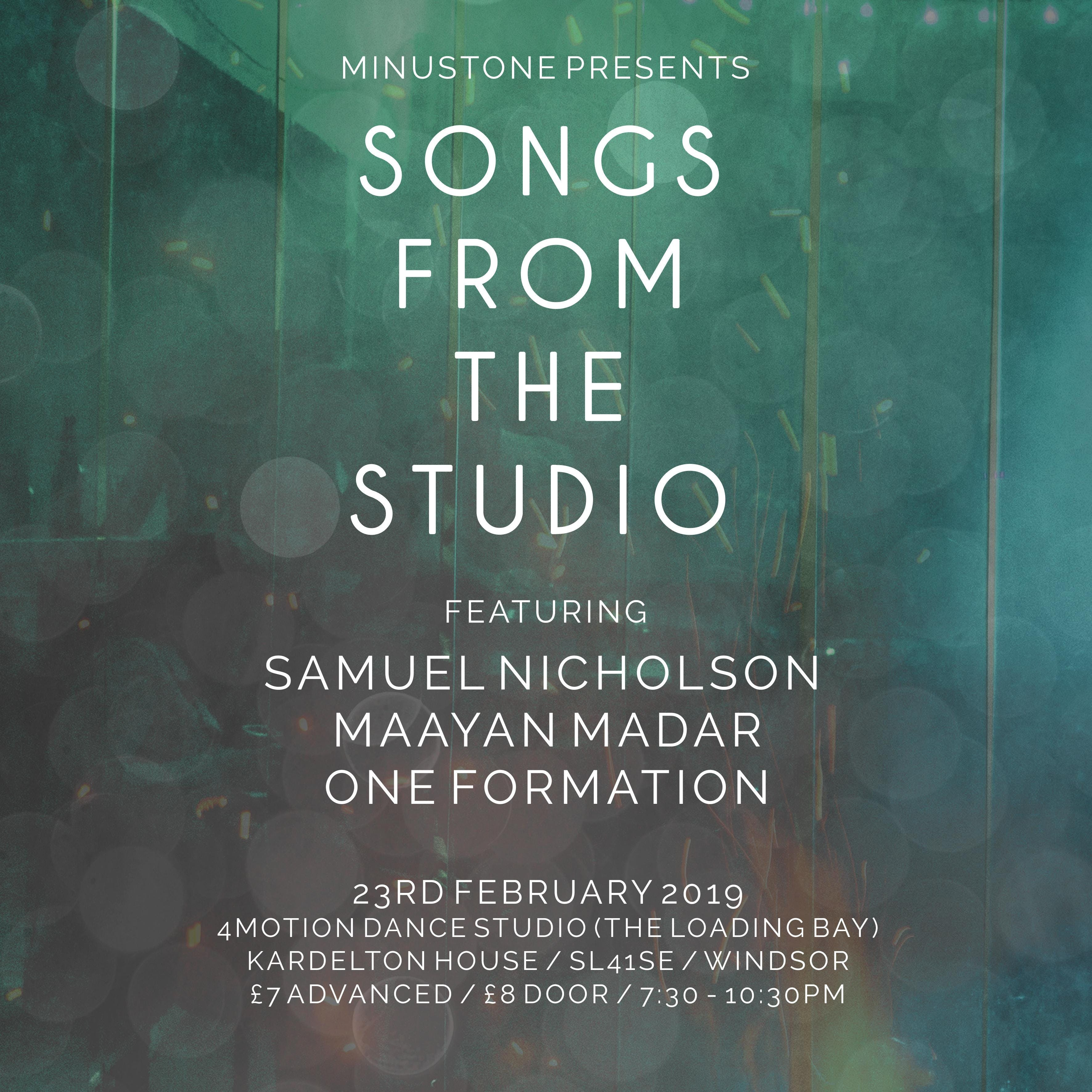 Songs From The Studio | Feat Samuel Nicholson