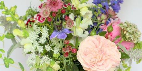 Seasonal Summer Flower Arrangement Workshop (foam free) tickets