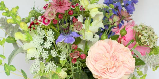 Seasonal Summer Flower Arrangement Workshop (foam free)