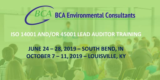 Louisville ISO 14001 and/or 45001 Lead Auditor Course