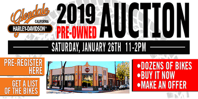 2019 H-D Glendale Annual Pre-Owned Motorcycle Auction