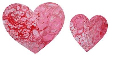 Fluid Heart Paint Party
