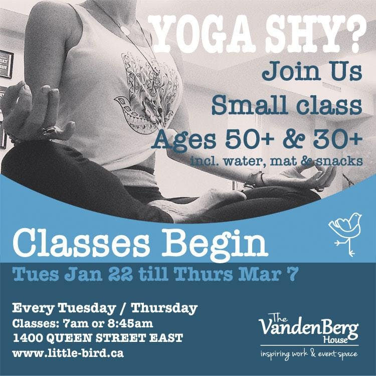 50+ Yoga in a Boutique Setting