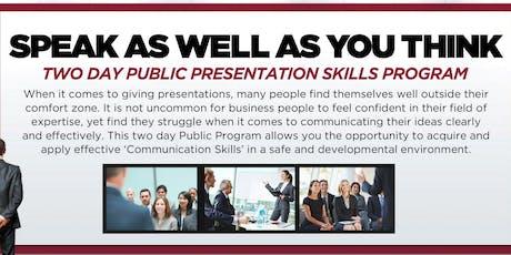 Chicago Public Presentation Skills Workshop - December 4-5