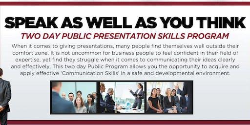 San Diego Public Speaking Training Workshop - October 2 & 3, 2019