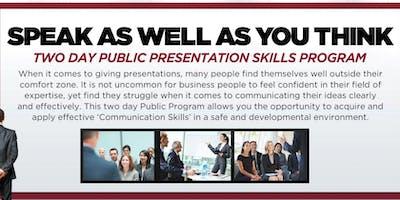 Chicago Public Presentation Skills Workshop - August 21-22, 2019