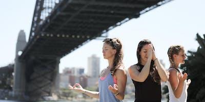 Meditation On The Pier with lululemon
