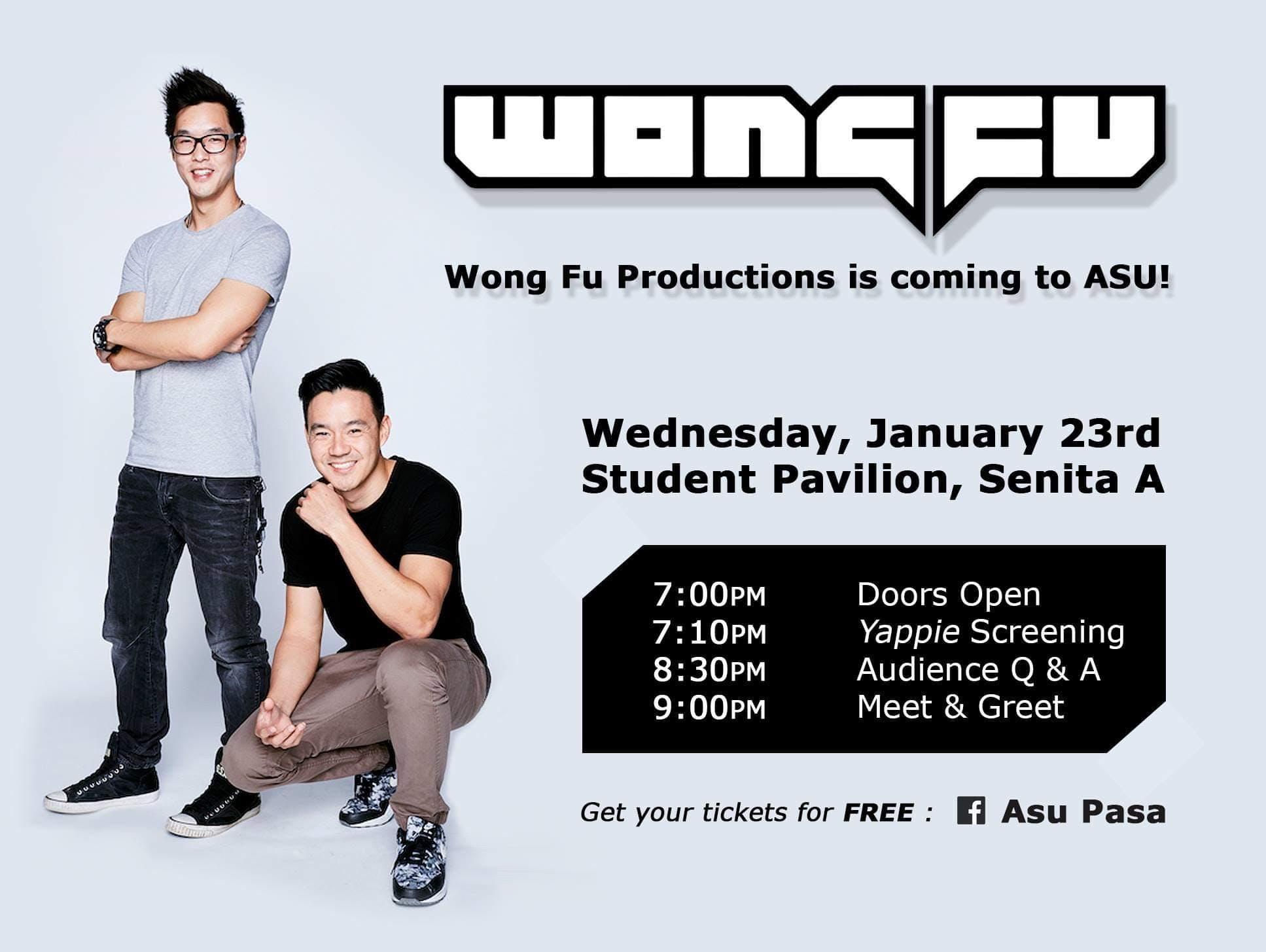 ASU PASA Presents: Wong Fu Productions - The YAPPIE Tour