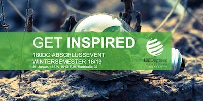Get Inspired - Abschlussevent 180DC Munich WiSe 18/19