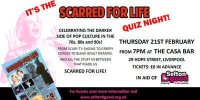 Scarred for Life Quiz Night in aid of Sefton 4 Good