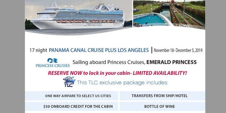 Panama Canal Group Cruise with Los Angeles and Air aboard the Emerald Princess tickets