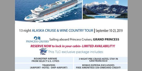 Alaska Cruise and Wine Country Tour  tickets