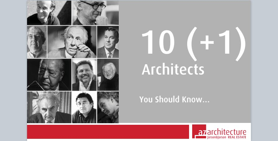Lunch & Learn: 10 (+1) Architects You Should Know