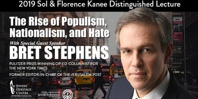 14th Annual Sol and Florence Kanee Distinguished Lecture with Bret Stephens