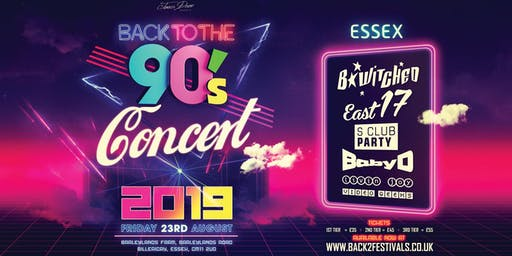 Essex Back to the 90's Open Air Concert  2019