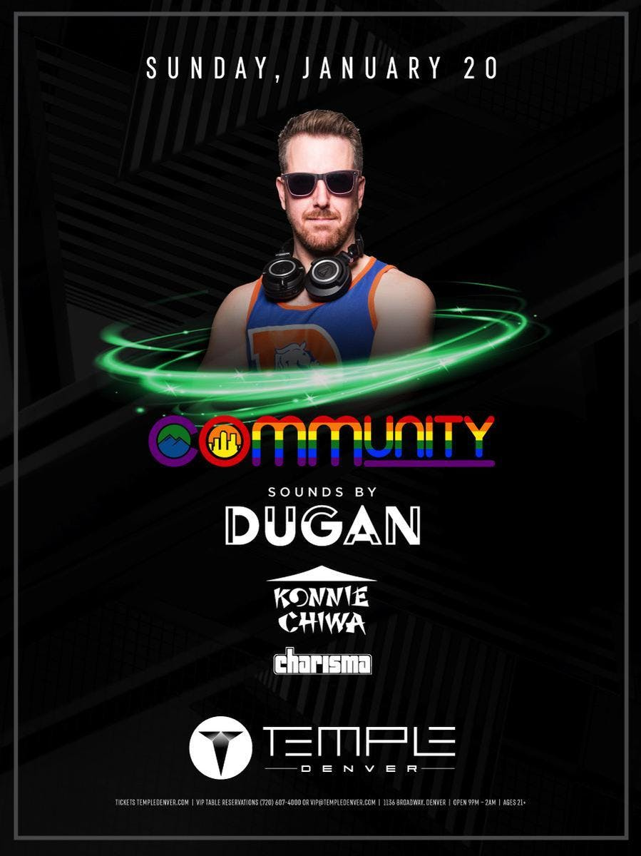 COmmUNITY at Temple Free Guestlist - 1/20/201