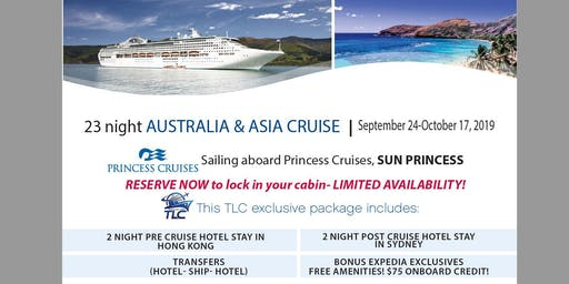 Cruise Asia & Australia with included pre & post hotel stays!