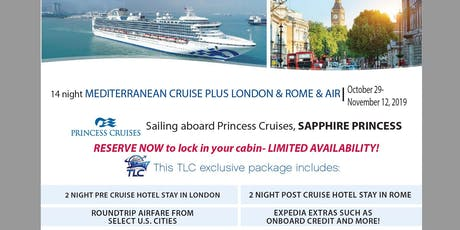 Mediterranean Cruise plus London & Rome with Air tickets