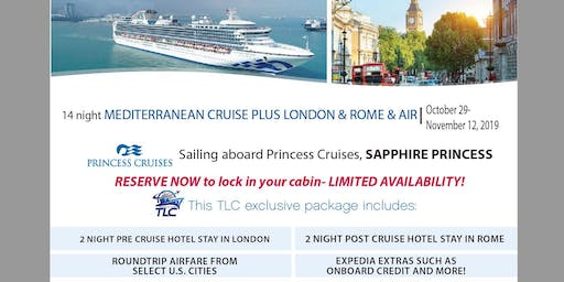 Mediterranean Cruise plus London & Rome with Air