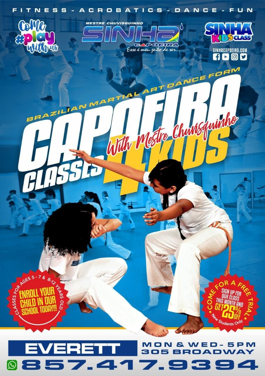 Capoeira for Kids and Adults in Everett, MA -