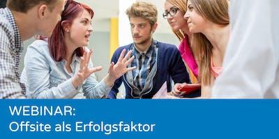 Wie man ein professionelles Offsite organisiert ✘ Webinar
