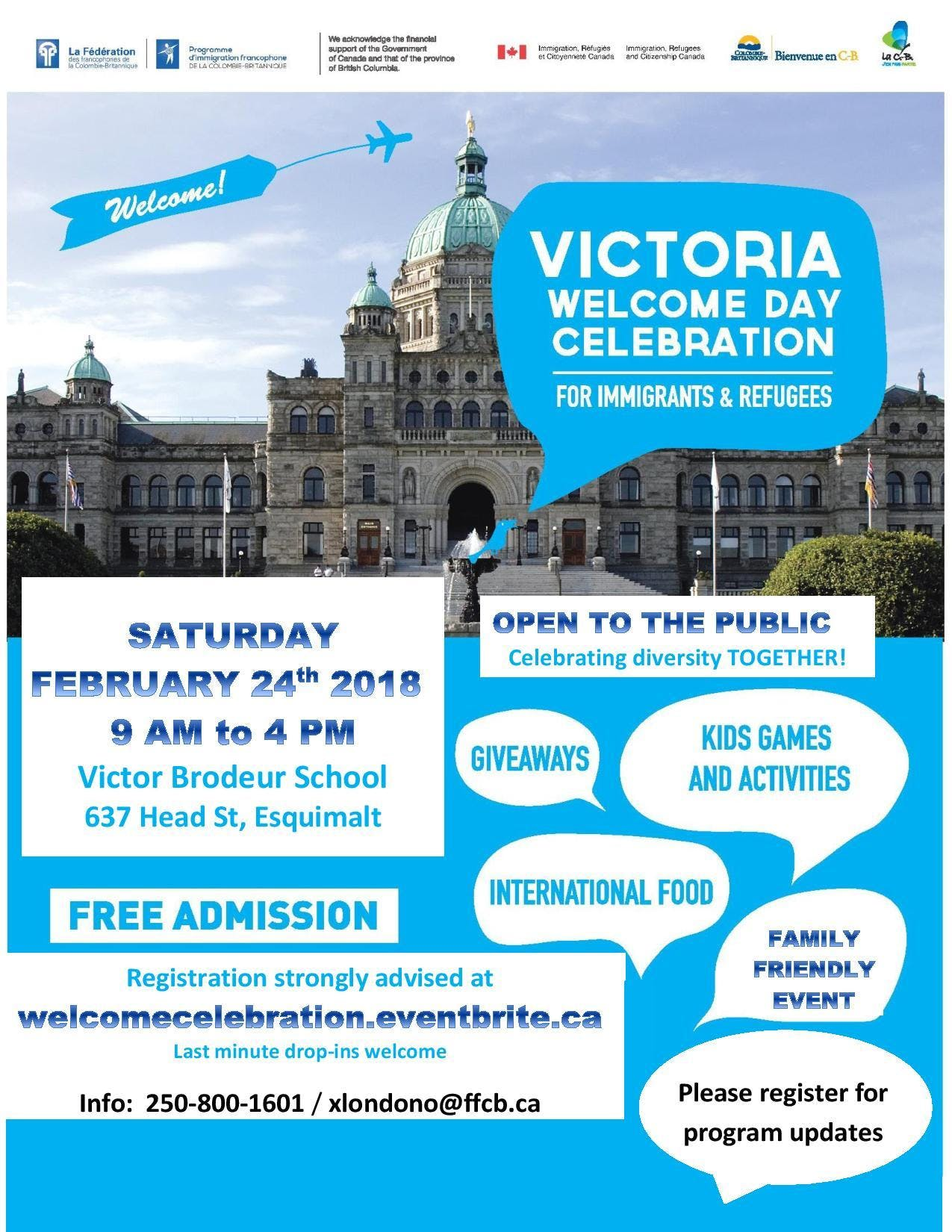 Welcome Day Celebration for Immigrants & Refugees