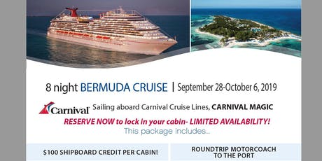 Cruise to Bermuda from Roundtrip Florida with Motorcoach to Port tickets