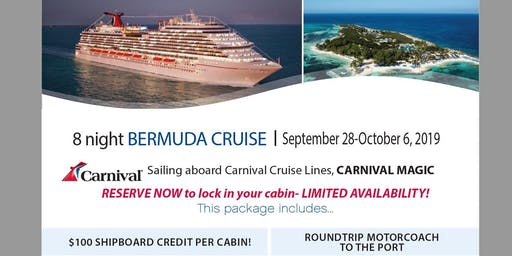 Cruise to Bermuda from Roundtrip Florida with Motorcoach to Port
