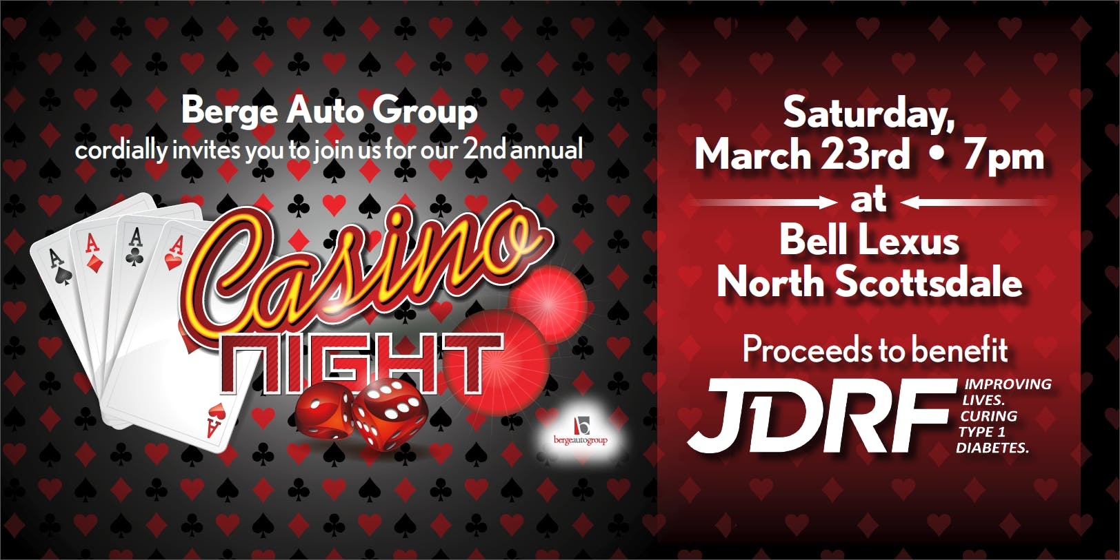 2nd Annual Casino Night for JDRF
