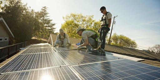 志愿者太阳能安装方向与SunWork - Milpitas上午9点到中午