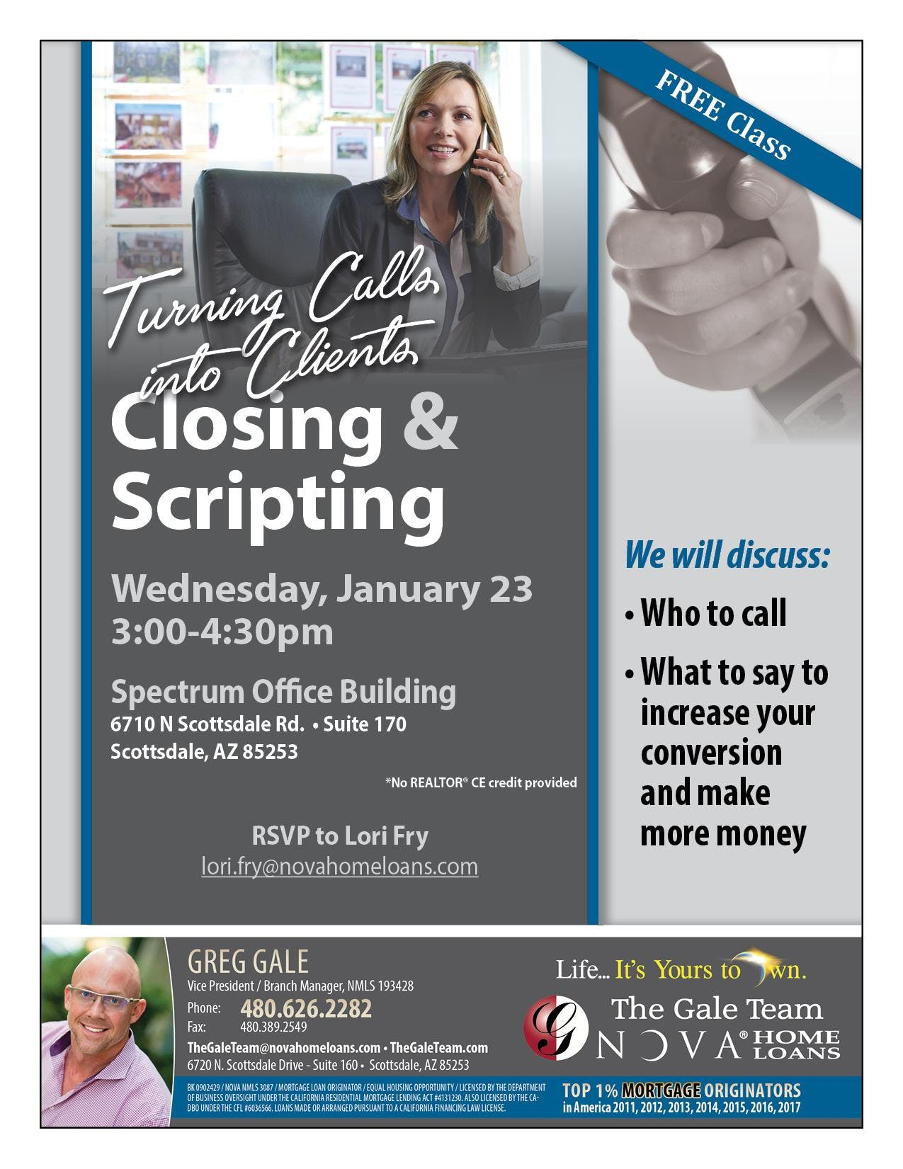 Closing & Scripting - Turning Clients into Closings