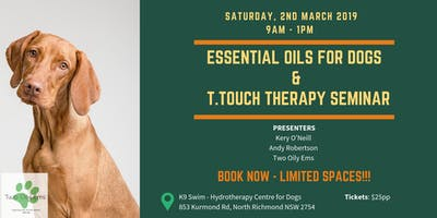 Essential Oils for Dogs and T.Touch Therapy Seminar