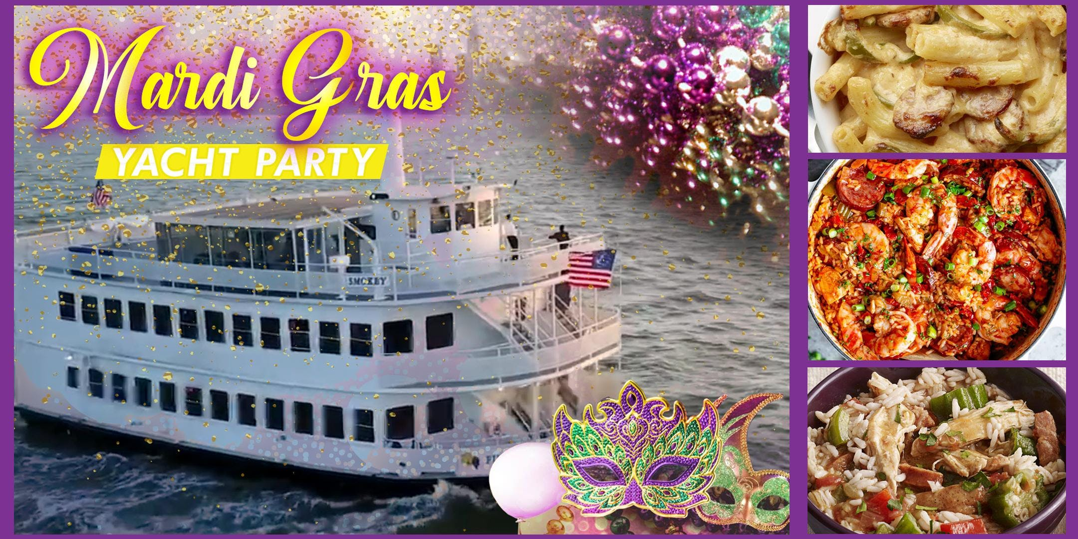 Mardi Gras Yacht Party Cruise March 9th @8:30