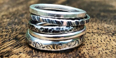 Beginner Silversmithing and Jewellery Making - Stacking rings and a Pendant