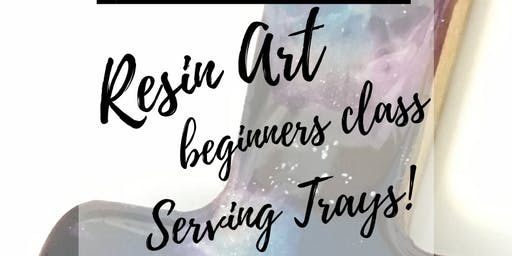Resin Art Beginner Class -Serving Trays