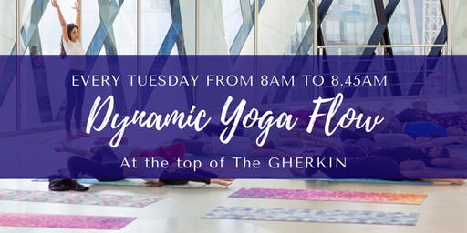 Dynamic Yoga Flow at The Gherkin