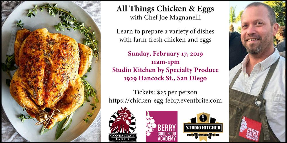 Berry Good Food Academy Presents All Things Chicken Eggs Tickets