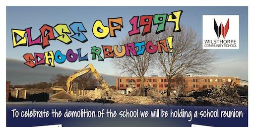Class of 1994 School Reunion, Wilsthorpe School