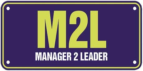 Manager 2 Leader Workshop, 27 June 2019 tickets