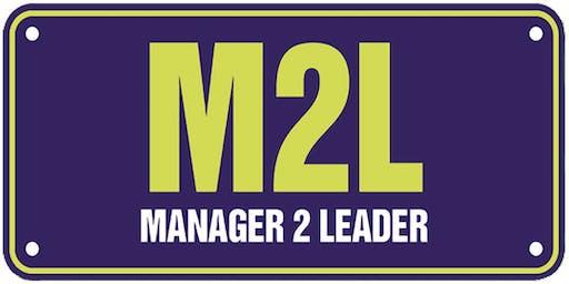 Manager 2 Leader Workshop, 17 October 2019