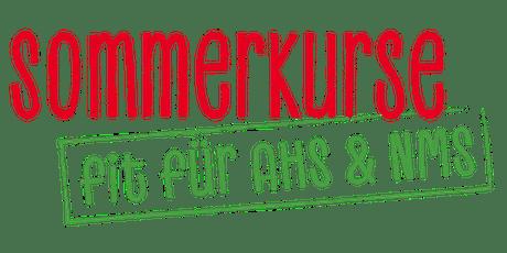 SCHULWECHSEL LEICHTGEMACHT- SOMMERKURS: Fit für die 1. AHS/NMS!  Tickets