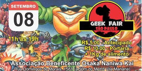Geek Fair São Paulo 2019 ingressos