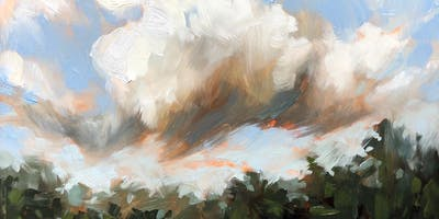 Fearless Oil Painting - Expressive Landscapes and Clouds