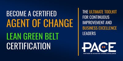 PACE Lean Green Belt/Productivity Leader Training - Sudbury - January 2019