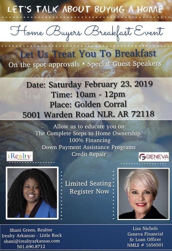 Homebuyer Breakfast Seminar Tickets Sat Feb 23 2019 At 10 00 Am
