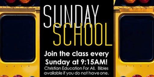 Reaching To Teach: Sunday School (Sundays at 9:15AM)